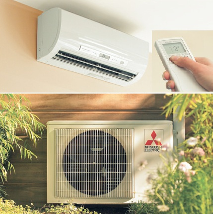 ductless heat pump installation