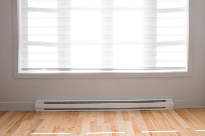 electric baseboard heating system installation
