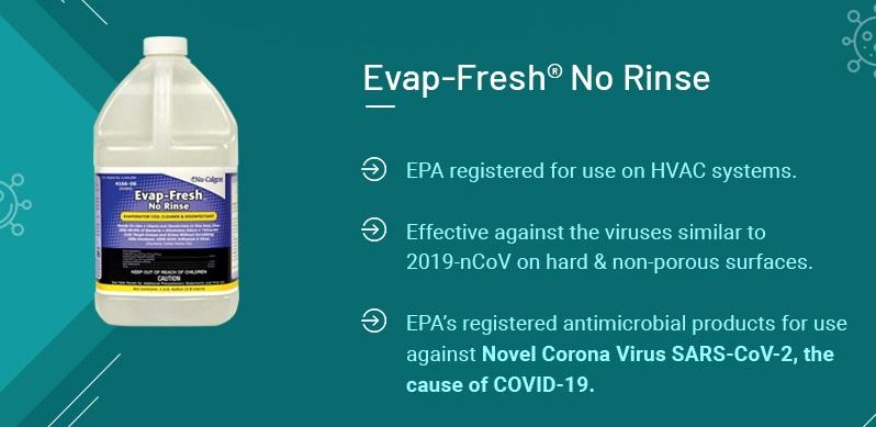 Evap-Fresh No Rinse Details info