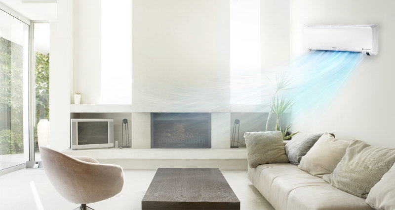Mitsubishi mini split ductless air conditioning installation in queens